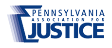 Logo Recognizing Gregory L. Schell, Esq's affiliation with Pennsylvania Association for Justice
